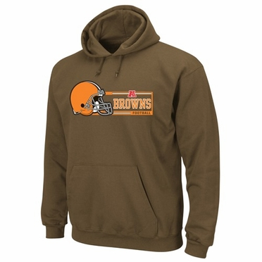 Cleveland Browns Majestic Critical Victory VII Hooded Sweatshirt - Brown