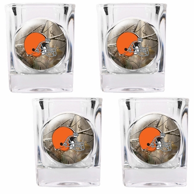 Cleveland Browns Open Field 4pc Square Shot Glass Set
