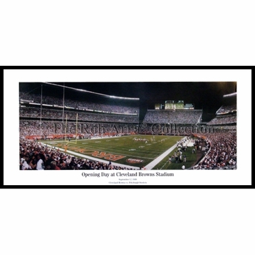 Cleveland Browns Opening Day at Cleveland Browns Stadium Framed Panoramic Print