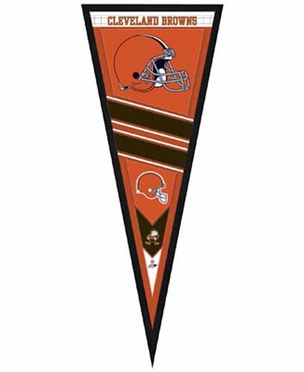 """Cleveland Browns Pennant Frame - 13""""x33"""" (No Glass)"""