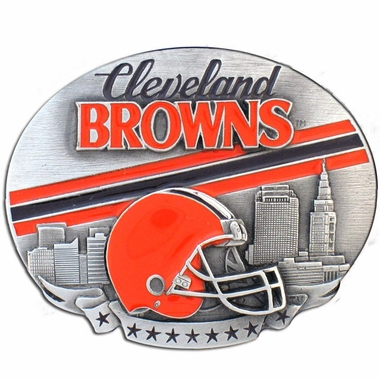 Cleveland Browns Enameled Belt Buckle