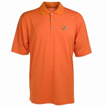 Cleveland Browns Mens Phoenix Waffle Weave Polo (Team Color: Orange)