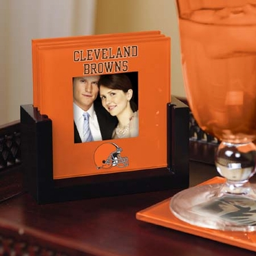 Cleveland Browns Photo Coaster Set