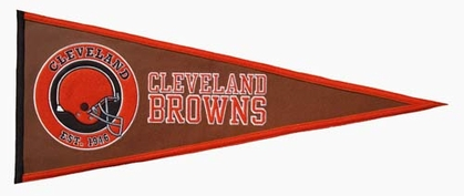 Cleveland Browns Pigskin Pennant