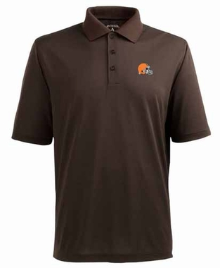 Cleveland Browns Mens Pique Xtra Lite Polo Shirt (Team Color: Brown)