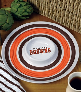 Cleveland Browns Plastic Chip and Dip Plate