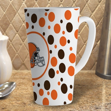 Cleveland Browns Polkadot 16 oz. Ceramic Latte Mug