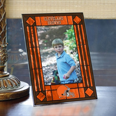 Cleveland Browns Portrait Art Glass Picture Frame