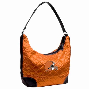 Cleveland Browns Quilted Hobo Purse