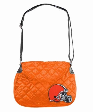 Cleveland Browns Quilted Saddlebag