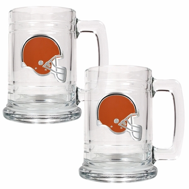 Cleveland Browns Set of 2 15 oz. Tankards