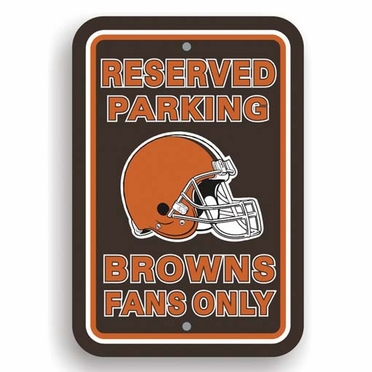 Cleveland Browns Plastic Reserved Parking Sign (P)