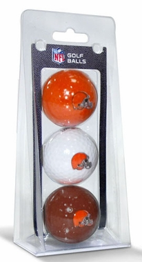 Cleveland Browns Set of 3 Multicolor Golf Balls