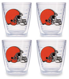 Cleveland Browns Set of FOUR 12 oz. Tervis Tumblers