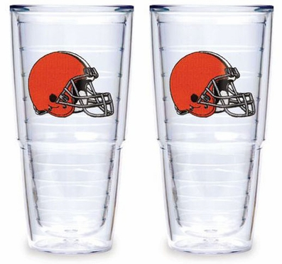 "Cleveland Browns Set of TWO 24 oz. ""Big T"" Tervis Tumblers"