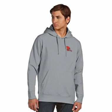 Cleveland Browns Mens Signature Hooded Sweatshirt (Color: Gray)