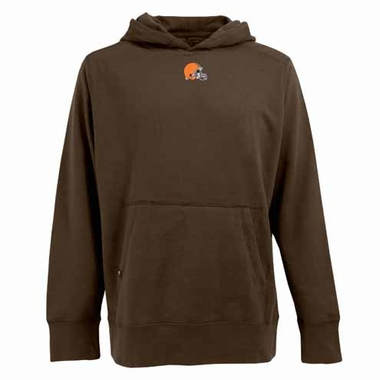 Cleveland Browns Mens Signature Hooded Sweatshirt (Team Color: Brown)