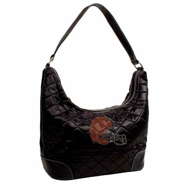 Cleveland Browns Sport Noir Quilted Hobo