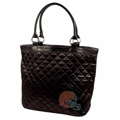 Cleveland Browns Sport Noir Quilted Tote