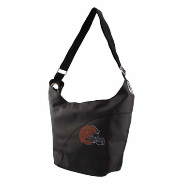 Cleveland Browns Sport Noir Sheen Hobo Purse