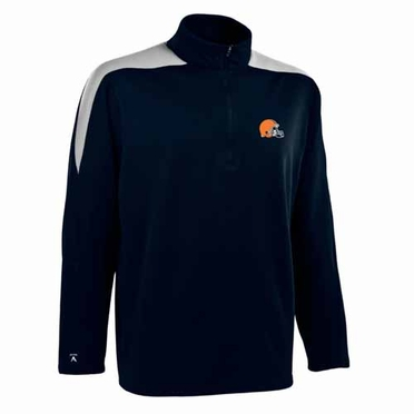 Cleveland Browns Mens Succeed 1/4 Zip Performance Pullover (Color: Smoke)