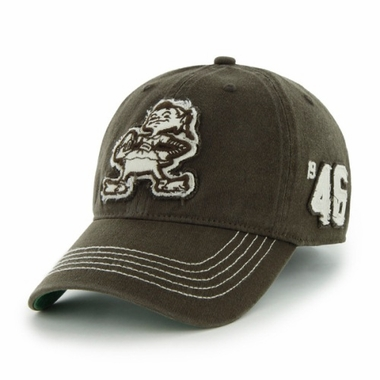 Cleveland Browns Throwback Badger Brown Franchise Flex Fit Hat