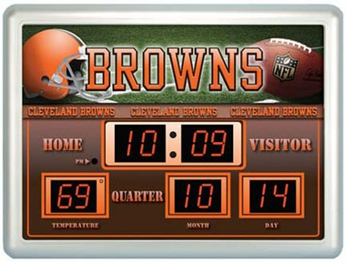 Cleveland Browns Time / Date / Temp. Scoreboard
