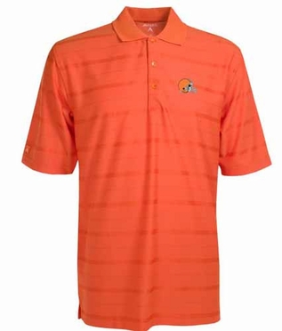 Cleveland Browns Mens Tonal Polo (Team Color: Orange)