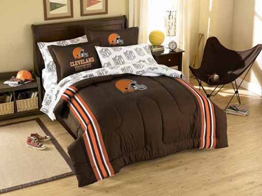 Cleveland Browns Twin Comforter and Shams Set