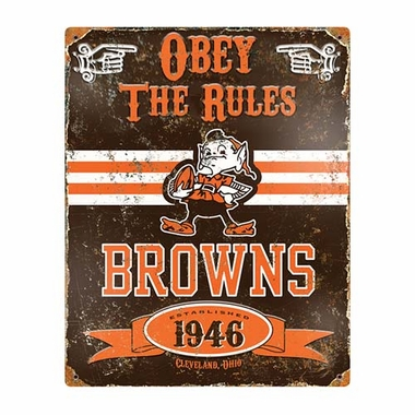 Cleveland Browns Vintage Metal 11x14 Sign