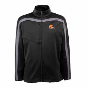 Cleveland Browns Mens Viper Full Zip Performance Jacket (Team Color: Black) - Small