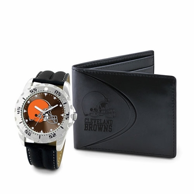 Cleveland Browns Watch and Wallet Gift Set