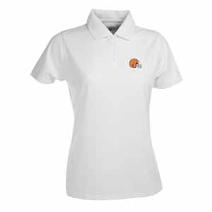 Cleveland Browns Womens Exceed Polo (Color: White) - Medium