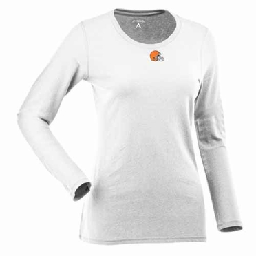 Cleveland Browns Womens Relax Long Sleeve Tee (Color: White)