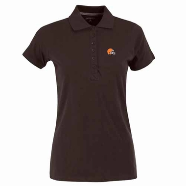 Cleveland Browns Womens Spark Polo (Team Color: Black)