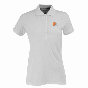 Cleveland Browns Womens Spark Polo (Color: White)
