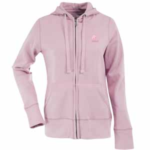 Cleveland Browns Womens Zip Front Hoody Sweatshirt (Color: Pink) - Small