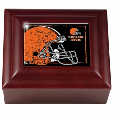 Cleveland Browns Wooden Keepsake Box