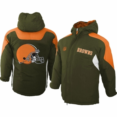 Cleveland Browns YOUTH Field Goal Midweight Full Zip Hooded Jacket