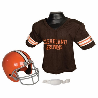 Cleveland Browns Youth Helmet and Jersey Set