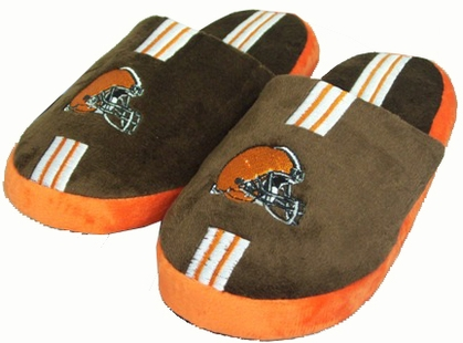 Cleveland Browns YOUTH Team Stripe Slide Slippers