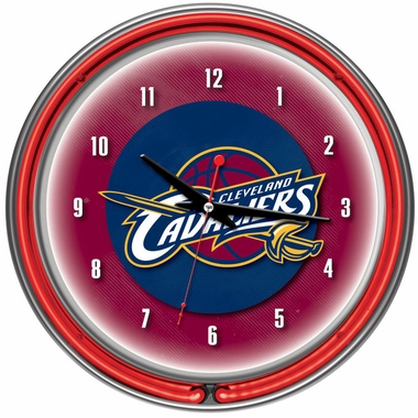 Cleveland Cavaliers 14 Inch Neon Clock