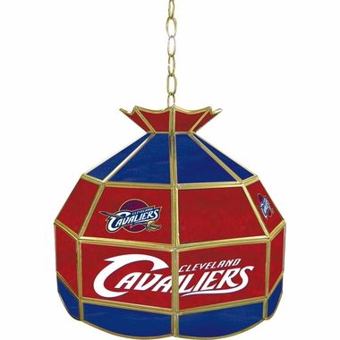 Cleveland Cavaliers 16 Inch Diameter Stained Glass Pub Light