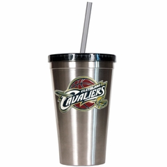 Cleveland Cavaliers 16oz Stainless Steel Insulated Tumbler with Straw