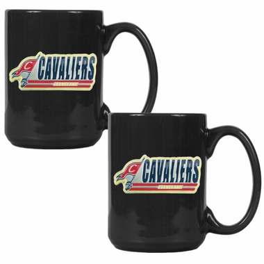 Cleveland Cavaliers 2 Piece Coffee Mug Set (Wordmark)
