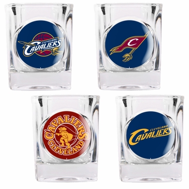 Cleveland Cavaliers 4 Piece Assorted Shot Glass Set