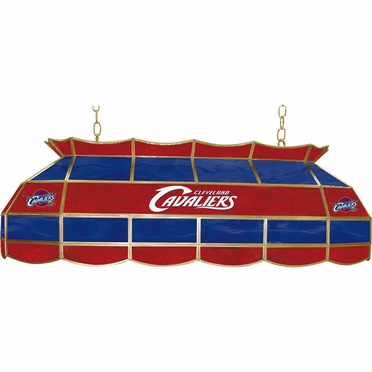 Cleveland Cavaliers 40 Inch Rectangular Stained Glass Billiard Light