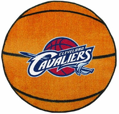 Cleveland Cavaliers Basketball Shaped Rug
