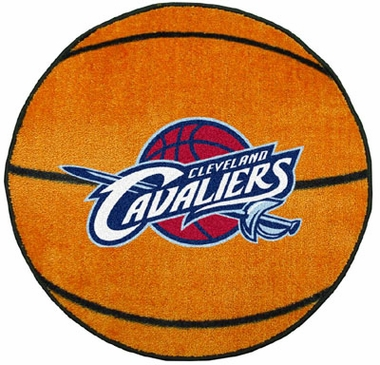 Cleveland Cavaliers 27 Inch Basketball Shaped Rug