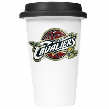 Cleveland Cavaliers Ceramic Travel Cup (Black Lid)